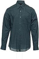 Van Heusen Men's Green Window Pane Button Down Shirt