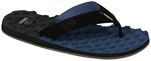 cobian Men's oam Traction Flip Flop, Blue, 12 M US