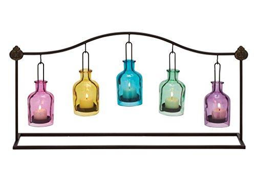 (Deco 79 55569 Metal Glass Votive Holder, 24
