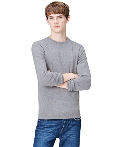 Smoke Pure grey Gp Find Gris 6174 Homme Cashmere Neck Crew Jumper q0a8Z