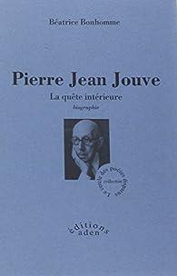 Book's Cover ofPierre Jean Jouve