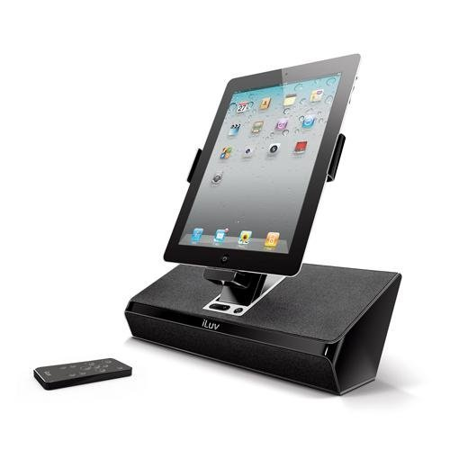 - iLuv iMM727BLK ArtStation Stereo Speaker Dock with Remote for the Apple iPad 3-3G / iPad 2 WiFi/3G Model 16GB, 32GB, 64GB EST Model for Apple iPhone 4, iPhone 4S and iPod Touch -Black