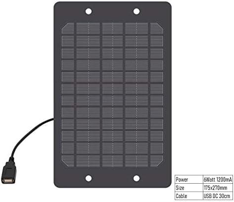Z.L.FFLZ Mini Solar-Panel Solar-Panel-Ladegerät mit USB-Anschluss Polykristalline Solarzellen-DIY Solarlade Batterie 5V-USB-Kabel 30cm (Color : 1200mA, Size : Schwarz)