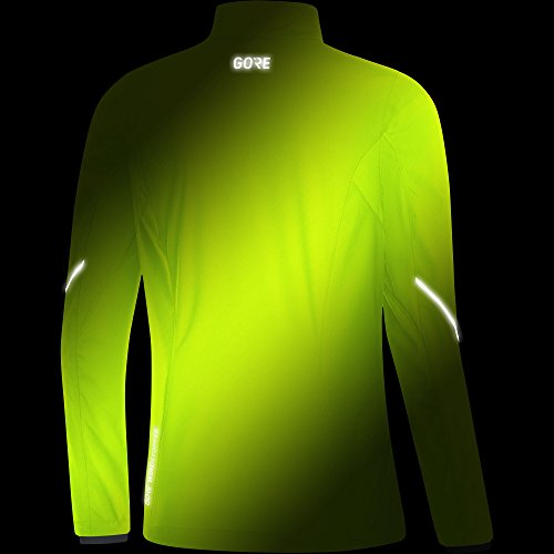 GORE WEAR Women's R3 Partial Windstopper Jacket, Neon Yellow, Small by GORE WEAR (Image #4)