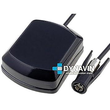 Antena de GPS y radio FM Dynavin tipo tibur/ón universal con conector SMA radio FM ANT-TIB.06-15 cent/ímetros de cable gps /… y DIN