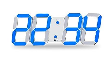 Uniqstore LED Reloj, LED Pantalla Reloj Digital Reloj de visualización de la Temperatura Fecha y