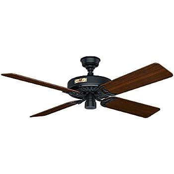 Hunter 23847 original 52 chestnut brown ceiling fan with five hunter 23838 original 52 black ceiling fan with five walnutcherry reversible blades aloadofball Gallery