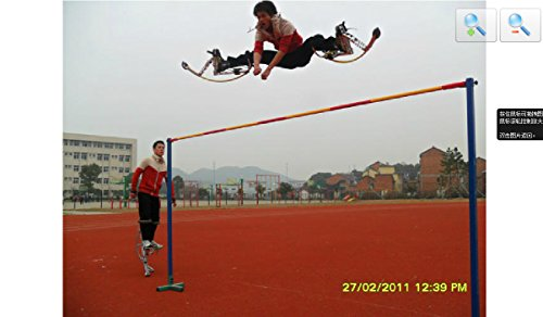 41Uv8UaJ5ML - Adult Kangaroo Shoes Jumping Stilts Fitness Exercise (200-242lbs/90~110kg) Bouncing shoes (black)