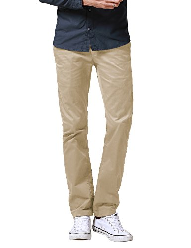- Match Men's Slim Fit Straight Leg Casual Pants (32, 8036 Skin)