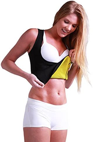 Women's Hot Sweat Slimming Neoprene Shirt Vest Body Shapers for Weight Loss Fat Burner Tank Top 8