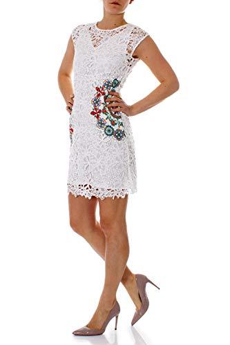 19swvw99 Vestito Corto Donna Desigual Vest Bianco Malpaso x6zO0qwR