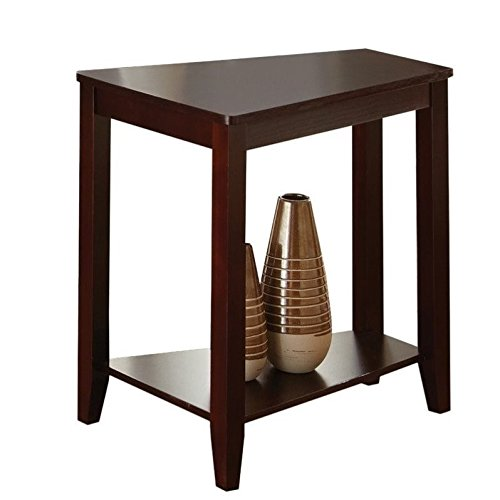 Cherry Finish Chairside Table - Steve Silver Joel Chairside End Table in Cherry Finish