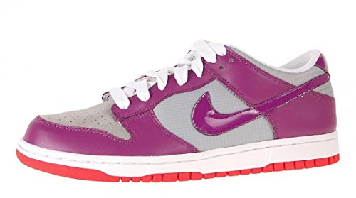 Women Nike Dunk Low (Nike Women's Dunk Low CL Silver/Logan Berry White Casual Sneakers US 11.5)