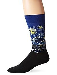 Hot Sox Men's Starry Night Crew Sock