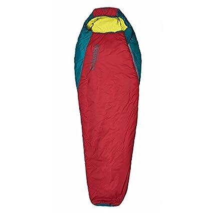 Columbus Misti 180 L Momia Saco de Dormir, Unisex Adulto, Rojo/Verde Oscuro
