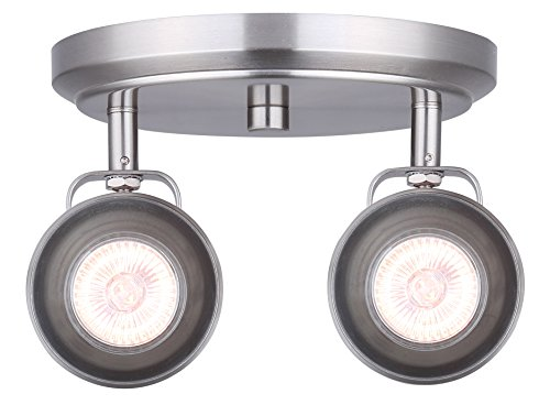 Directional 2 Spotlight - CANARM ICW622A02BN10 LTD Polo 2 Light Ceiling/Wall, Brushed Nickel with Adjustable Heads