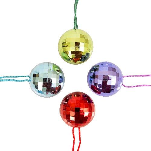 [Metallic Disco Ball Necklace] (70s Jewellery Disco)