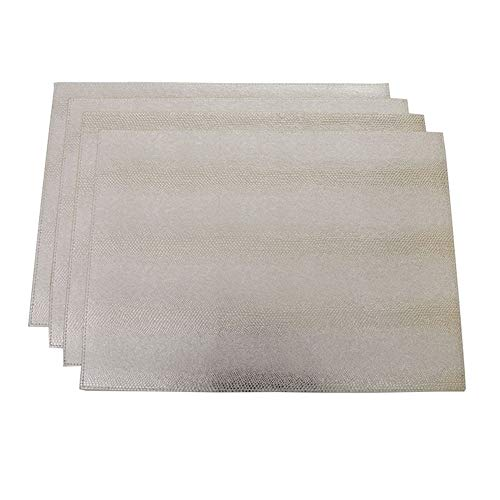 serpentine Leather placemat,Waterproof and oil proof,Disposable Table mat,Environmental protection PVC material,silver,18.11