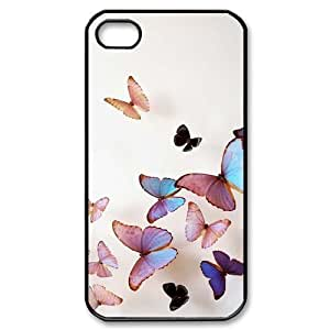 Beautiful butterfly DIY Case for Iphone 4,4S, Custom Beautiful butterfly Case wangjiang maoyi BY shenglong