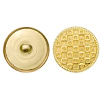 C&C Metal Products 5148 Modern Mesh Metal Button, Size 45 Ligne, Gold, 36-Pack