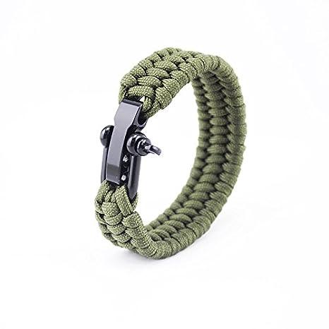 Yeahlvy Survie Parachute Cordon Tressé Corde Réglable Bracelet d'urgence pour Femmes Hommes Survie Randonnée Camping Activités De Plein Air d'urgence Life Saver