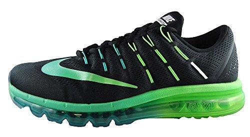 cheaper dd25f 3bec3 Galleon - Nike Men s Air Max 2016 Running Shoe (Sz. 11) Black, Midnight  Turquoise