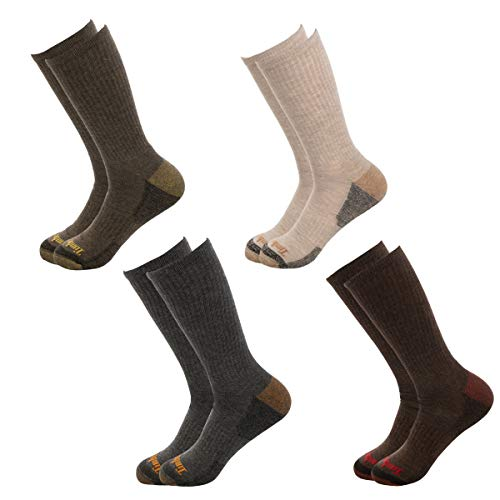 (Timberland Socks (4 Pairs) Crew Socks For Boys, Kids Socks, Outdoor Indoor Boot Socks, Dress Socks)