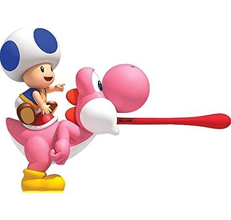 Amazon Com 9 Inch Blue Toad On Pink Yoshi Super Mario Bros Wii