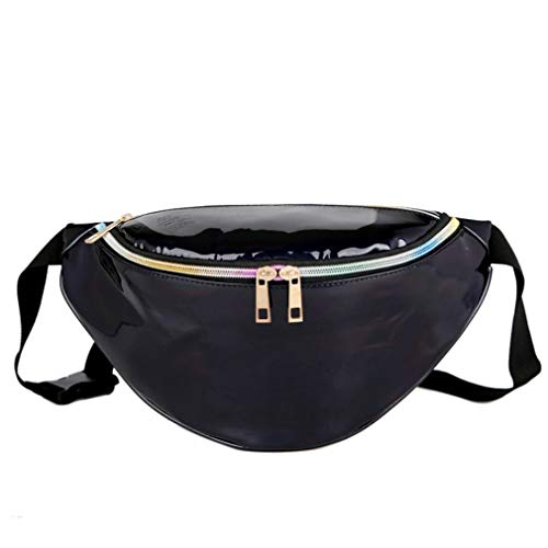 Black Modern to Laser Bag Carry Fashion Pocket Pink Easy Qirui Waist Beach 0XP5Sq
