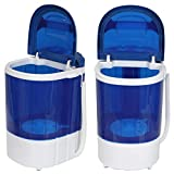 LEMY Mini Baby Washing Machine Portable and Compact Laundry Washer with 8.8lbs Washing Capacity, Single Tub, Blue