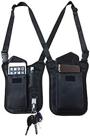 LIOOBO Anti-Thief Hidden Underarm Shoulder Bag, Concealed Pack Pocket, Multi-Purpose Men/Women Safety DoubleSt