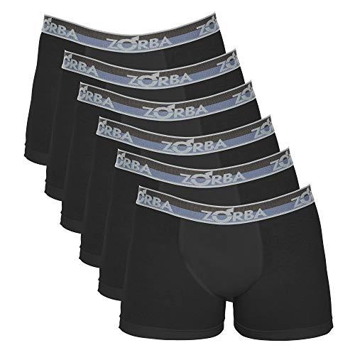 Kit 6 Cuecas Boxer Sem Costura, Zorba, Masculino, Mescla Claro, GG