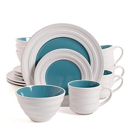 Isaac Mizrahi Caribbean Color 16-Piece Dinnerware Set Turquoise  sc 1 st  Amazon.com & Amazon.com | Isaac Mizrahi Caribbean Color 16-Piece Dinnerware Set ...