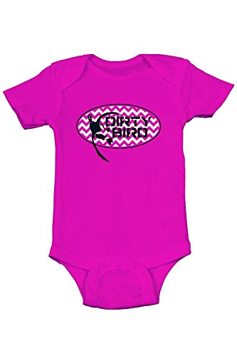 Browning Dirty Bird Baby Speckled Belly Bodysuit Onesie Fuchsia (3 Months) (Belly Bird)