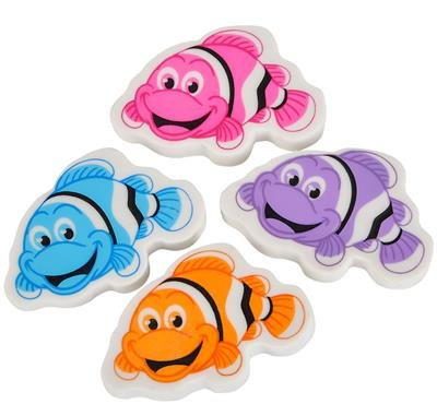 1.5'' CLOWNFISH ERASER, Case of 60 by DollarItemDirect