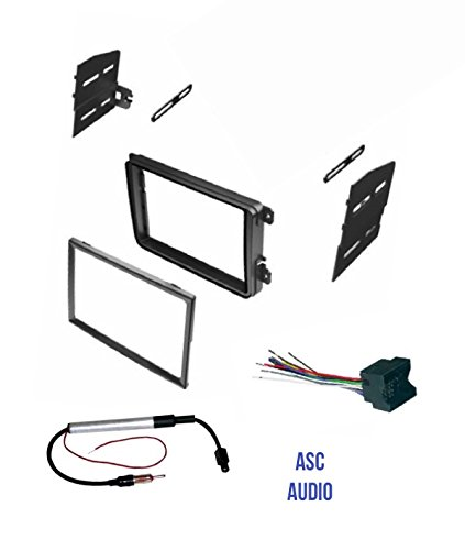 ASC Double Din Car Stereo Radio Dash Kit, Wire Harness, and Antenna Adapter for VW Volkswagen: 12-15 Beetle,09-14 CC,07-14 Eos,10-14 Golf,06-14 GTI,06-15 Jetta,06-14 Passat,06-09 Rabbit,09-14 Tiguan (Vw Golf Wiring Harness)
