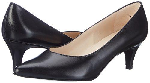 Christel 100 Kaiser Para Peter Tacón schwarz De Mujer Cerrada Negro Con Zapatos Punta Chevro FTn5q