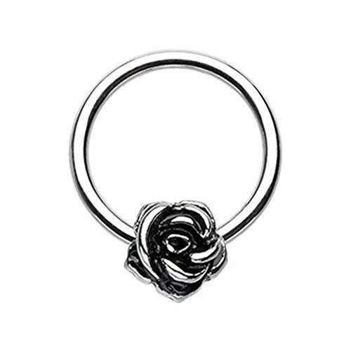 Rose Petal Steel WildKlass Captive Bead Ring (16g 5/16