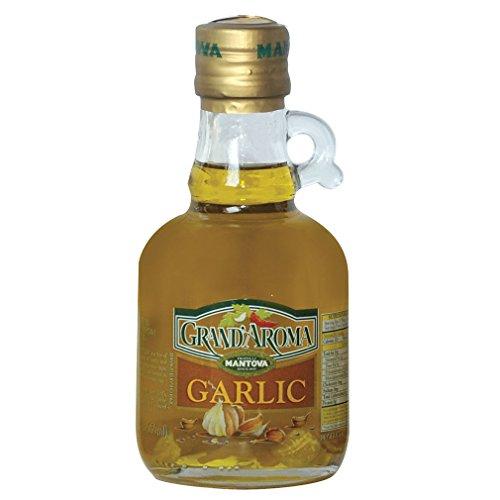 Grand'aroma Garlic Extra Virgin Olive Oil, 8.5-Ounce Bottles (Pack of 3) (Kitchen Grande)