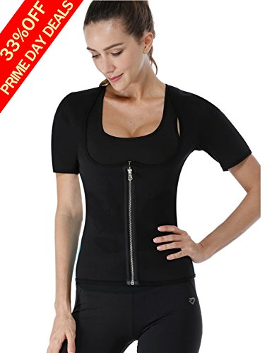 b0f768f0c02 NonEcho Women Redu Shaper Sauna Sweat Vest for Weight Loss Neoprene Slimming  Hot Body Waist Trainer with Zipper