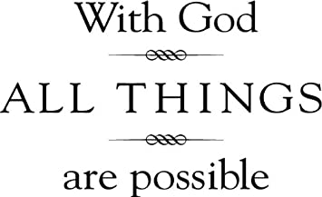 Amazoncom Tapestry Of Truth With God All Things Are Possible