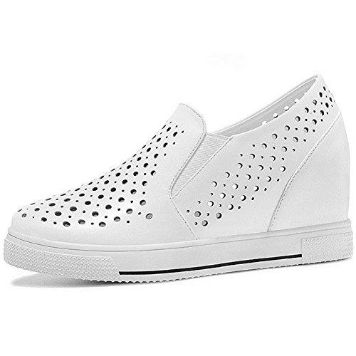 Zapatillas Antideslizantes U-mac Para Mujer Zapatillas Interiores Con Cremallera Y Zapatos Planos Con Orificios En Blanco