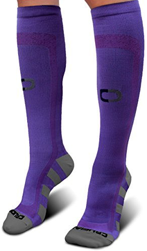 Crucial Compression Socks for Men & Women (20-30mmHg) - Best Graduated Stockings for Running, Athletic, Travel, Pregnancy, Maternity, Nurses, Medical, Shin Splints, Support, Circulation & Recovery ()