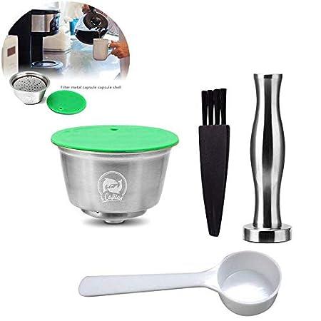 Ceepko Cápsula de café rellenable, Acero Inoxidable, Reutilizable, Compatible con Nescafe Dolce Gusto máquina de café para restaurantes, Empresas, ...