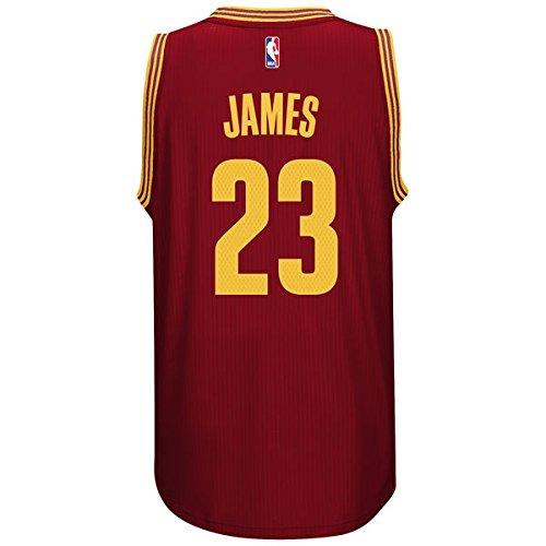 ADIDAS Men's NBA Cleveland Cavaliers James #23 Burgundy Jersey (XX-Large) (Jersey New Cavaliers)