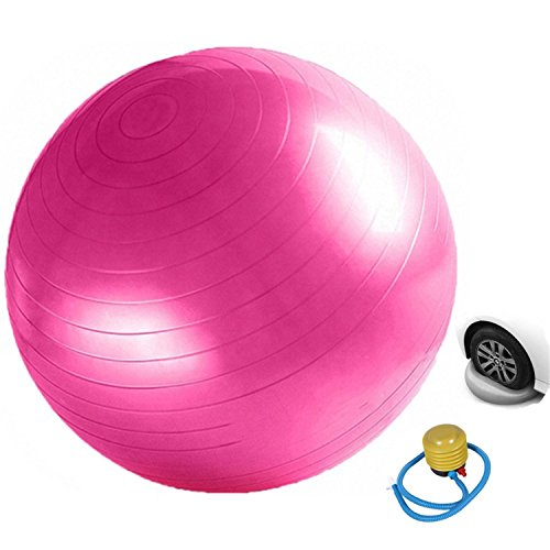 25.6in Yoga Ball 65cm with Pump for Health/Stability, Sports equipment Anti Burst Exercise Balls for Balance & Exercise,Non-Slip Ruber PVC – DiZiSports Store