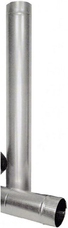 Theca 7500003 Tubo Acero Chapa galvanizada, Multicolor, 100 mm