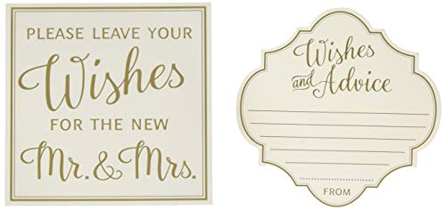 Lillian Rose GA211 48 Ivory Wishes and Advice Cards, -