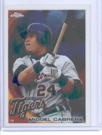Miguel Cabrera Games (2010 Topps Chrome Baseball Card # 156 Miguel Cabrera - Detroit Tigers - MLB Trading Card)
