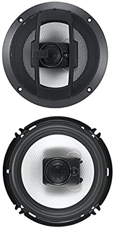 BOSS Audio R63 300 Watt (Per Pair), 6.5 Inch, Full Range, 3 Way Car Speakers (Sold in Pairs) (Car Audio Aveo)